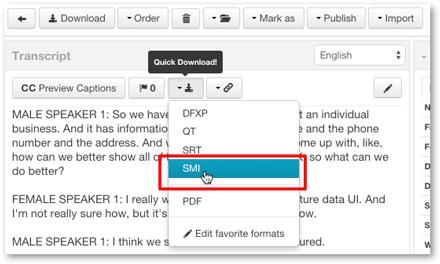 Download SMI caption format for WMV