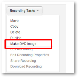 Make DVD Image of Tegrity recording