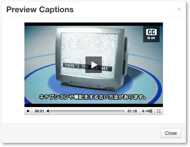 preview captions video