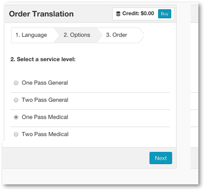 Dotsub medical translation service level