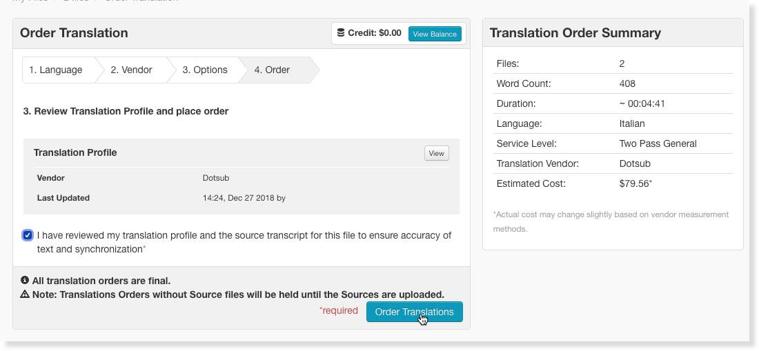 order translations