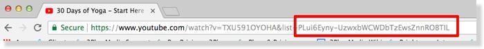 YouTube Playlist ID.