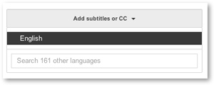 Select langauge of closed captions or subtitles