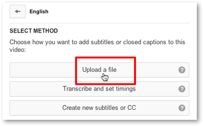 Upload a closed captions or subtitle file to YouTube