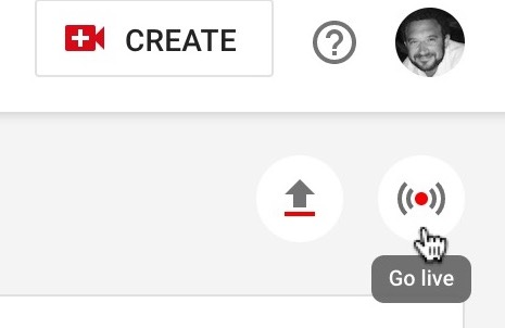 YouTube Go Live icon