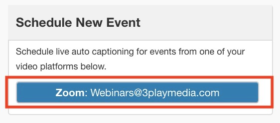 Button to navigate to the meetings and webinars in the linked zoom account, in 3Play