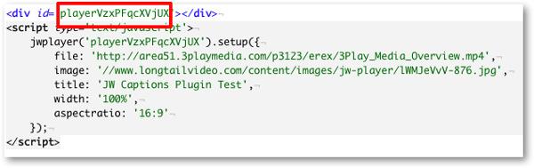 JW 6 Player embed code