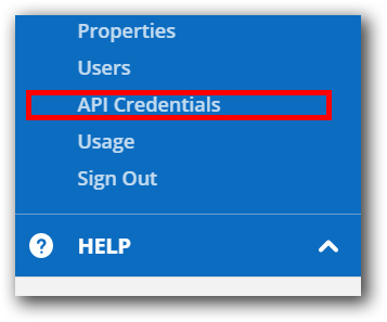 Underneath account, click on API Credentials