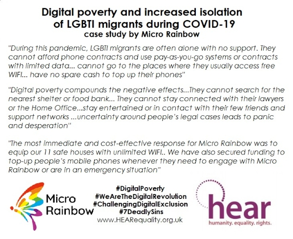 3rd Digital Exclusion case study - LGBTI Migrant Digital Poverty by MRI