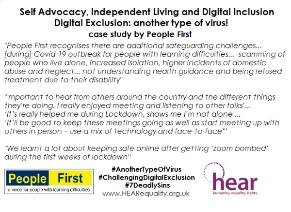 Digital Exclusion: another type of virus! case study from People First