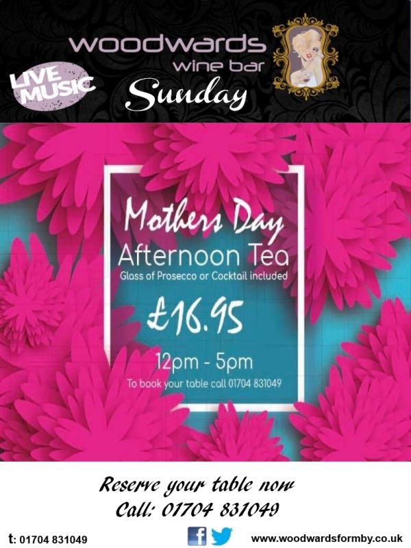 Treat Your Lovely Mum with Afternoon Tea at Woodwards!
