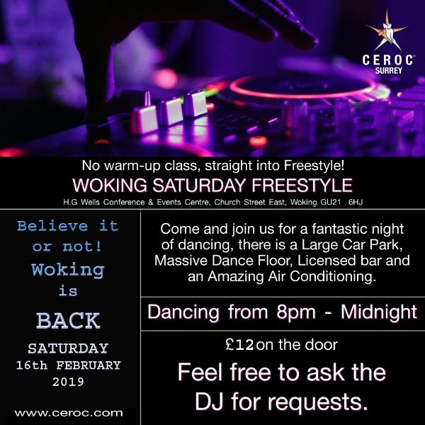 Woking Saturday  16th February Freestyle