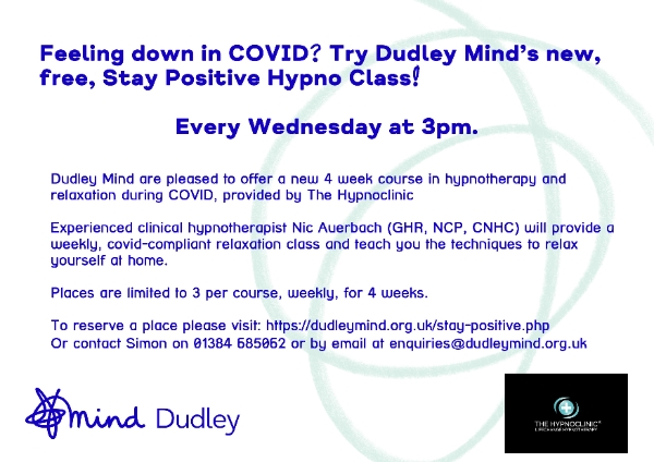 Stay Positive Hypnotherapy Class
