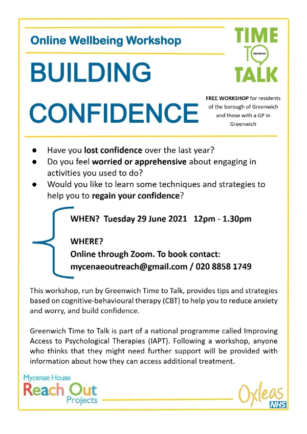 Greenwich Time to Talk - Regaining Confidence