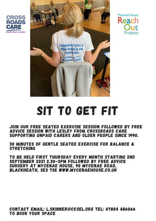 Sit to get fit with Crossroads Care and The Reach Out Project