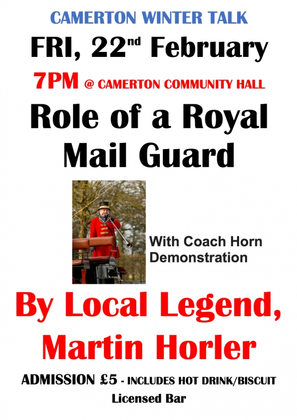Camerton Winter Talk - Role of a Royal Mail Guard