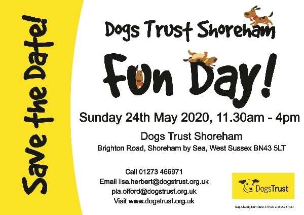 Save the Date for Dogs Trust Shoreham's Fun Day 2020