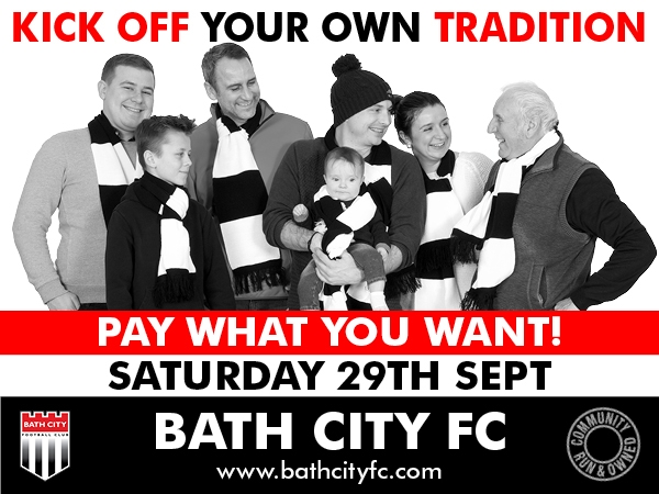 Bath City Community Day - Pay What You Want match