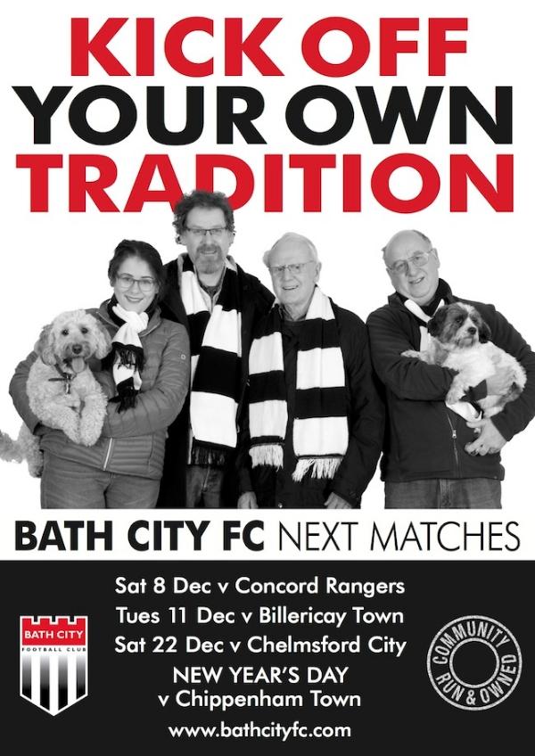 Bath City v Chelmsford City this Saturday