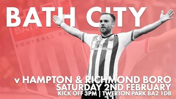 Bath City v Hampton & Richmond this Saturday