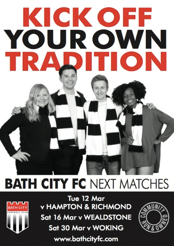 Bath City v Wealdstone this Saturday