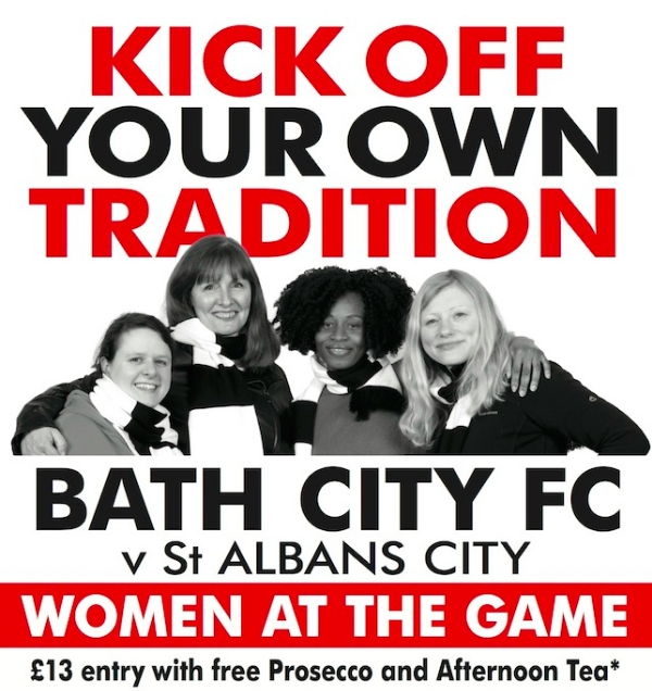Women at the Game – Bath City prosecco reception and match