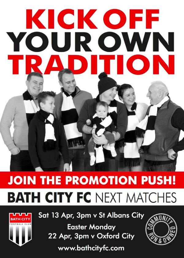 Bath City v St Albans this Saturday