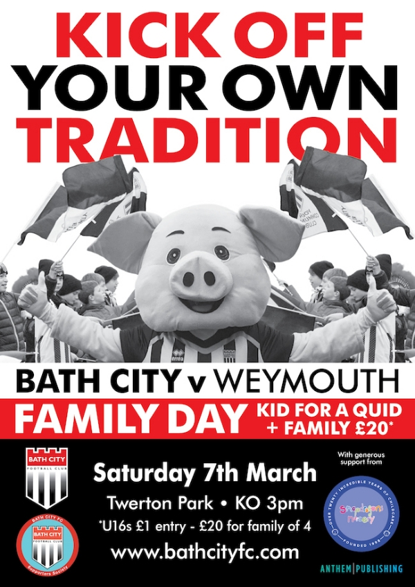 Bath City Family Day - Saturday 7th March v Weymouth