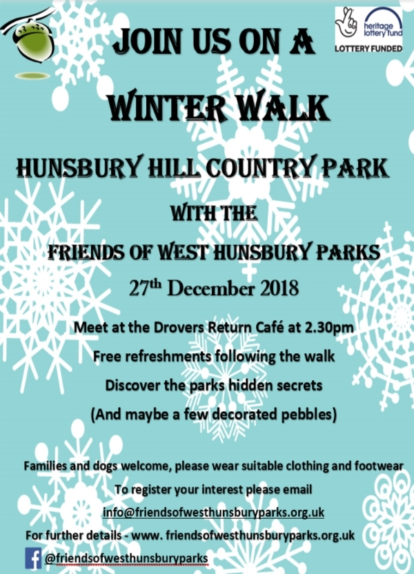 Winter Walk at Hunsbury Hill  County Park