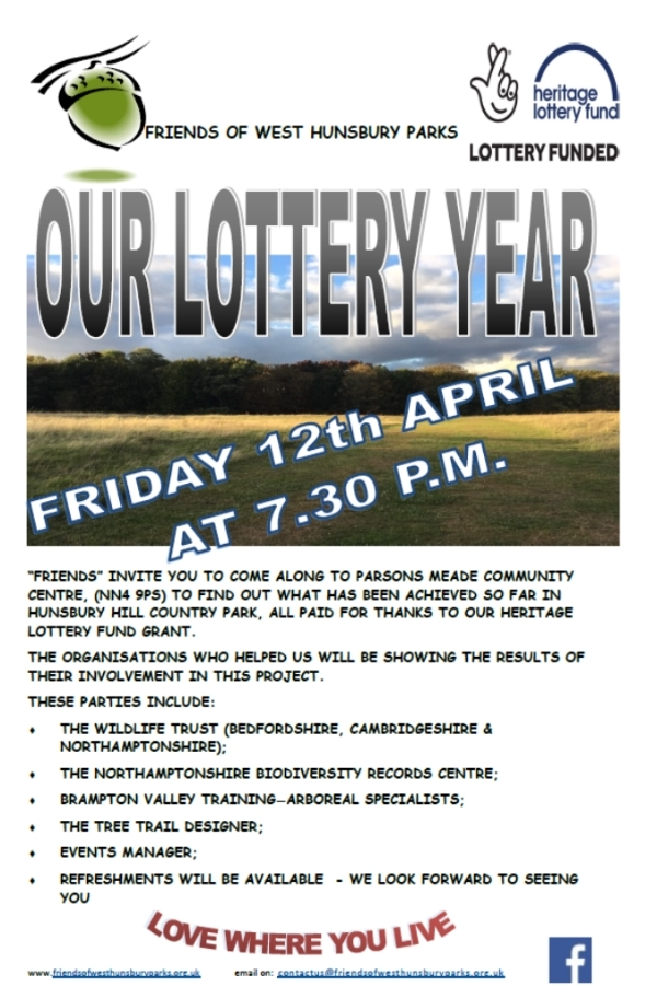 Our Lottery Year, The Friends of West Hunsbury