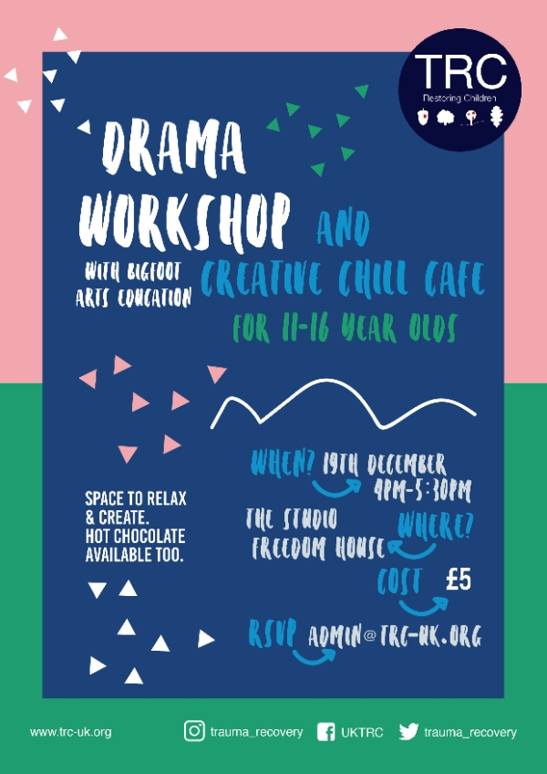 Drama Workshop and Creative Chill Cafe with Big Foot Arts Education