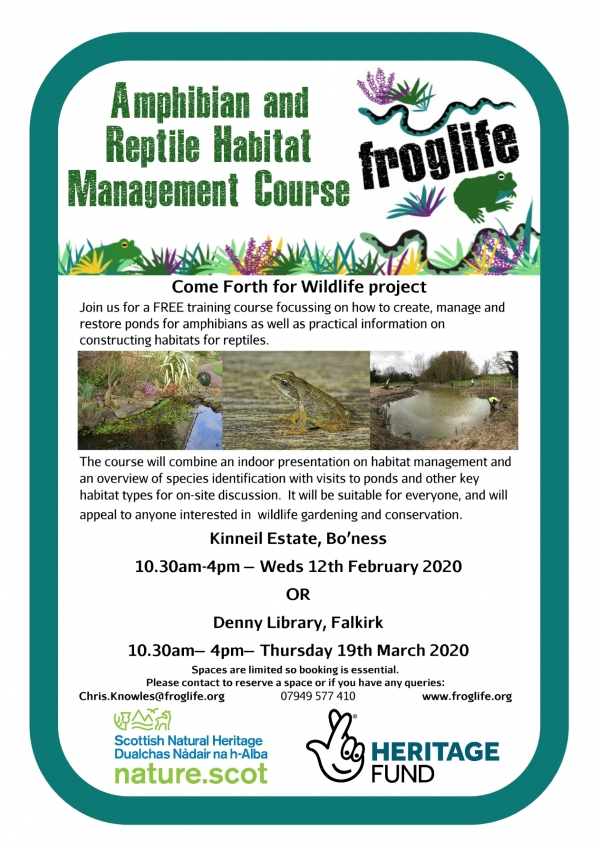 Habitat Management and Creation for Amphibians and reptiles