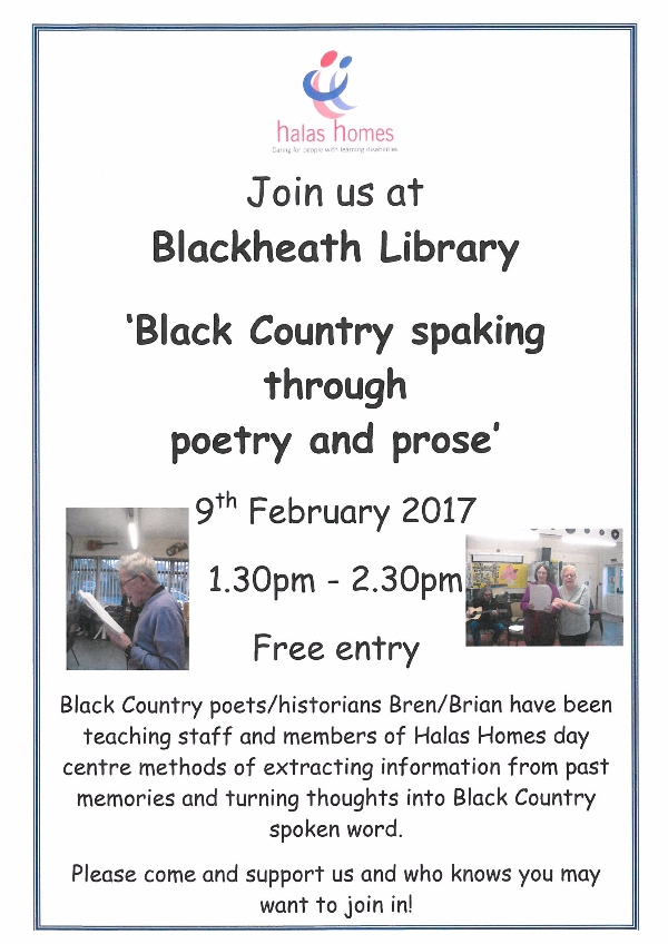 Black Country speaking through poetry and prose