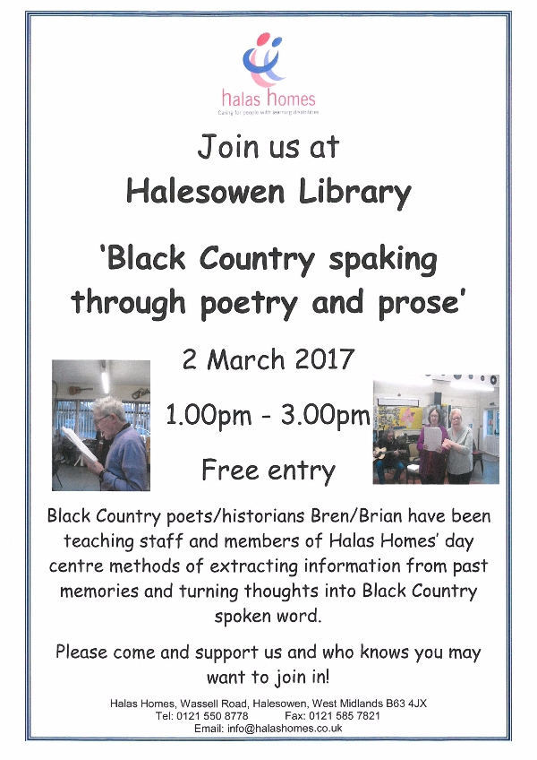 Halas Homes Poetry Group