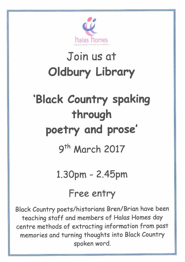 Black Country spaking at Oldbury Library