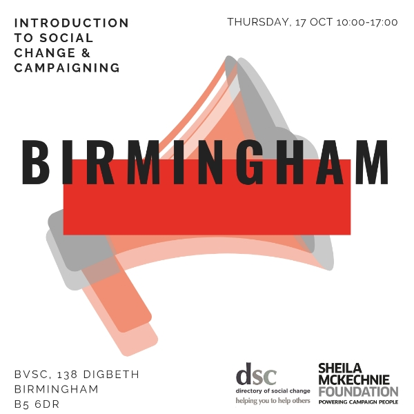 Introduction to Social Change and Campaigning - Birmingham