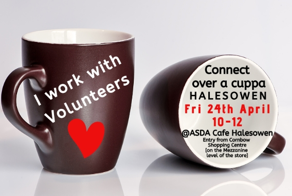 Catch up with other volunteer managers over a cuppa in Halesowen