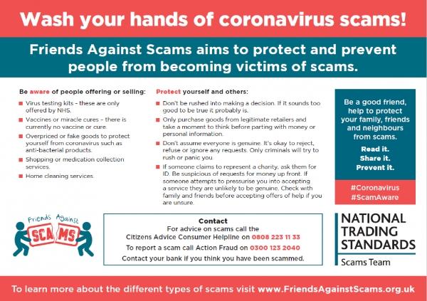 Wash your hands of Coronavirus scams