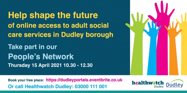 Help shape the future of online access to Dudley borough adult social care services