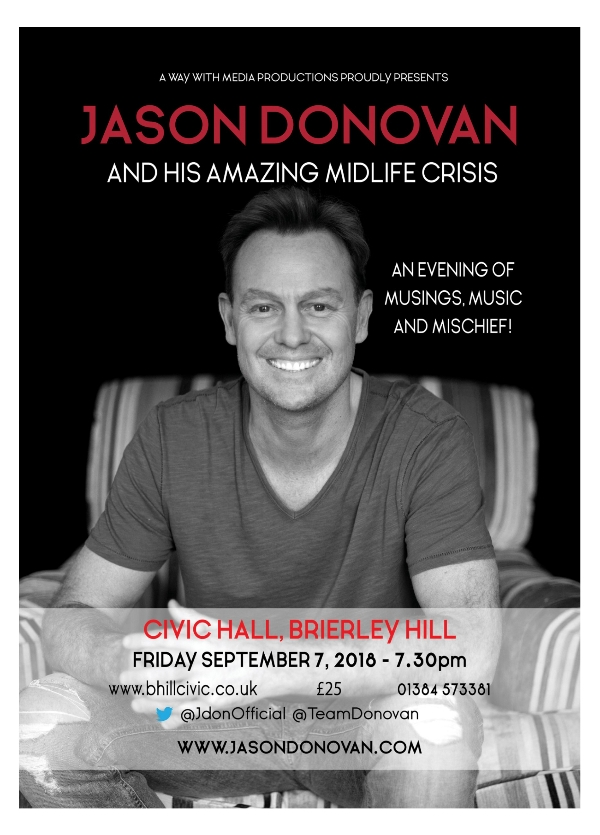 **Win Tickets To See Jason Donovan and his Amazing Midlife Crisis Show!**