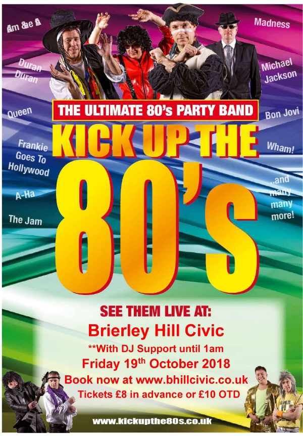 **Win Tickets to our 80s Night Starring the fantastic Kick Up the 80s Live band**