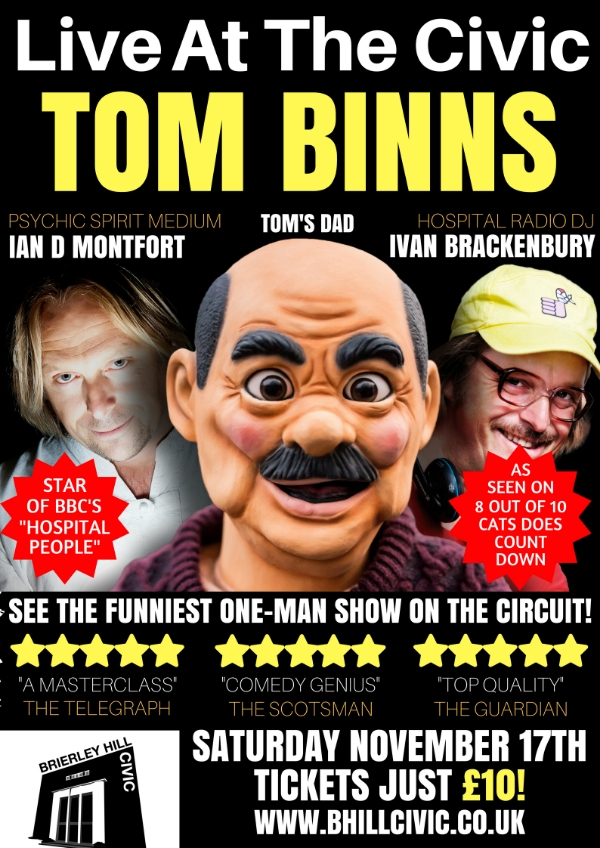 **Live at the Civic Comedy  Show Tomorrow Night Only £10!**