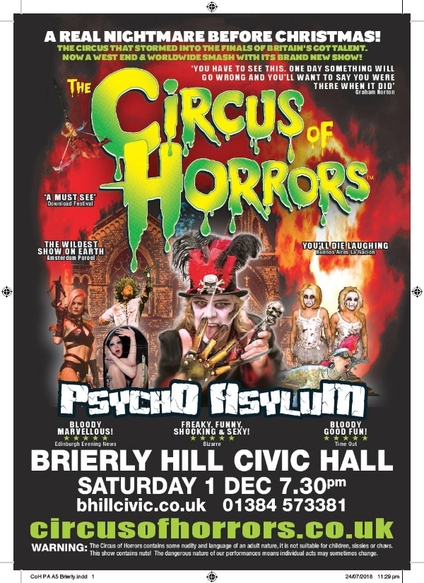 **Win Tickets To The Circus Of Horrors Show!**