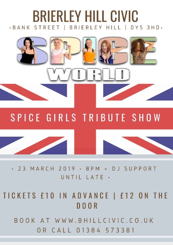 **Tomorrow Night - Spice Girls Tribute + DJ Support Until Late**
