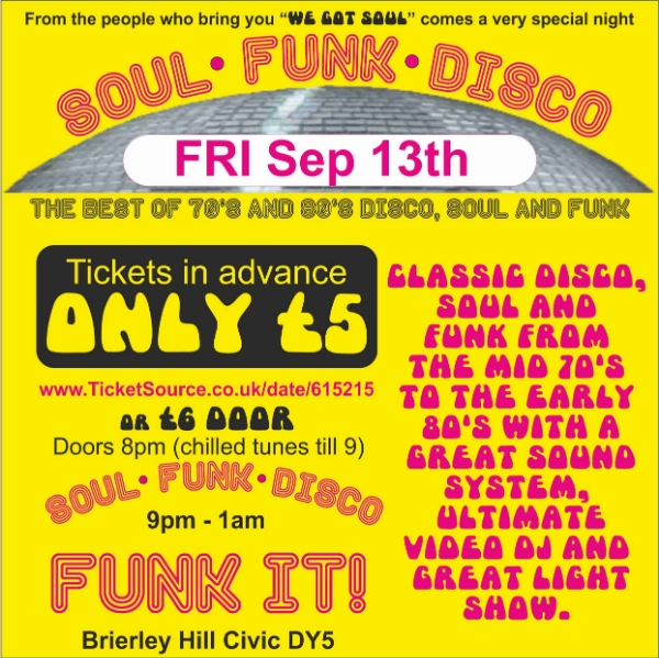 **Our Soul Funk Disco Is Back!**