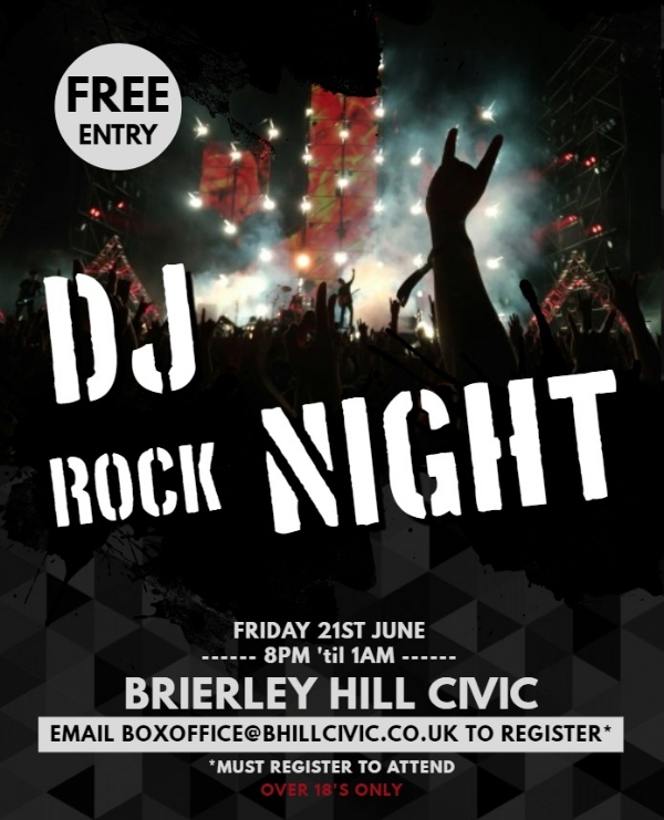 **Tomorrow Night - Free DJ Rock Night!**