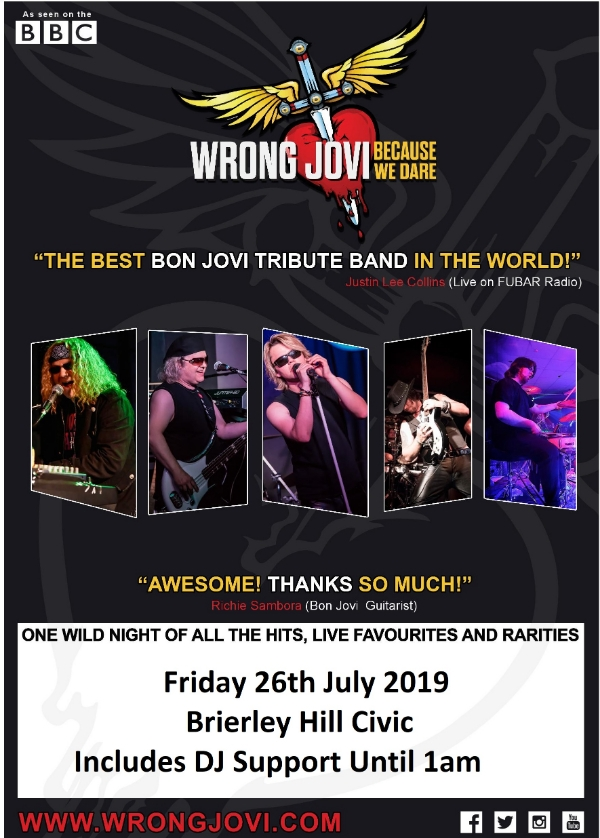**Win Tickets To Wrong Jovi + DJ Support Until Late**