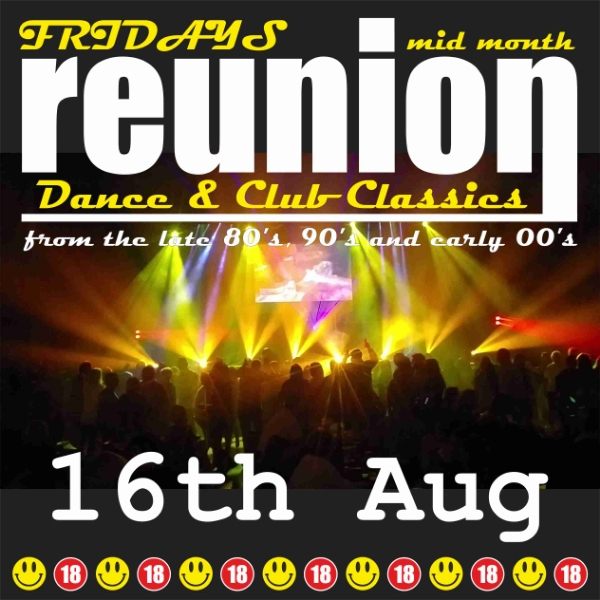 **ReUnion returns Friday 16th August - Win Tickets!**