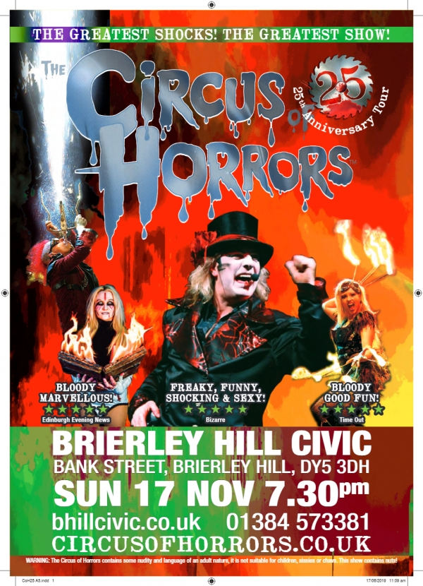 **The Circus of Horrors - 17th November 2019**