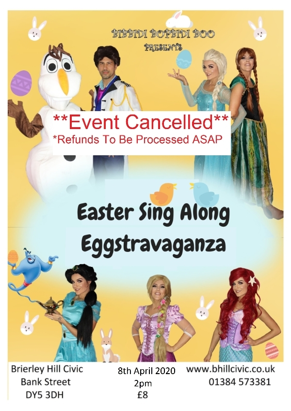 ** Easter Sing Along - 8th April - Cancelled**